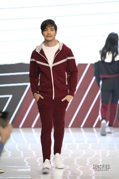 Event: Panasonic Manila Fashion Festival Avel x Alden Collection Date: October 2019 Venue: Marquee Tent,. Alden Richards, Shangri La Hotel, Quilted Jacket, Manila, Festival Fashion, Athleisure, Ph, Joggers, Pullover