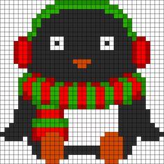 Christmas Penguin perler bead pattern