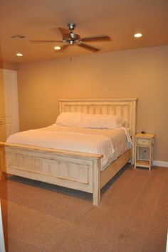 King Farmhouse Bed with Matching Side Tables | Do It Yourself Home Projects from Ana White
