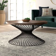 Great deals Abigail Coffee Table By Mistana Metal Furniture, Living Room Furniture, Furniture Design, Furniture Decor, Circular Table, Coffee Table Wayfair, Contemporary Coffee Table, Creation Deco, Round Coffee Table