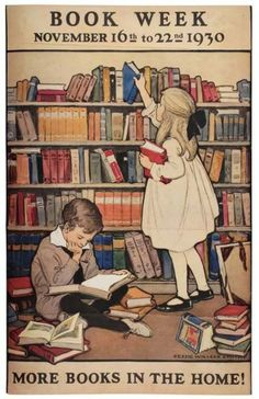 Vintage Book Week Poster  Source:  thelifeguardlibrarian bookoasis: