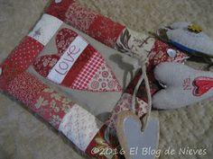 El Blog de Nieves. Labores y Punto de cruz: Red Love  Red Home Natalie Bird Patchwork Quilting applique