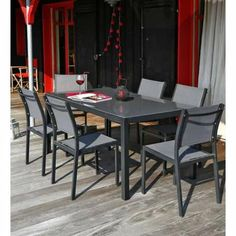 699€ Salon de jardin 10 places en acacia : 1 table extensible + 10 ...