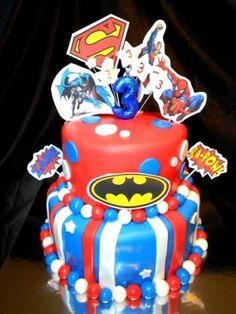 2 Tier Super Hero Cake