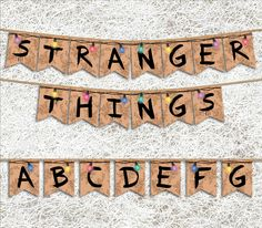 Stranger Things Banner   PRINTABLE Party Supplies   Stranger Things Party Banner…