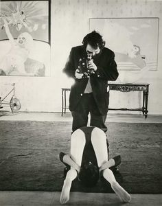 Stanley Kubrick filming A Clockwork Orange, 1971