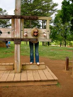 "Pillory ~ American Village Montevallo, Al ""The citizenship Trust"" 2009 May14"