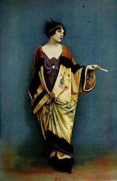 Les Modes (Paris) 1912 Robe de Bal et Manteau du Soir par Laferriere