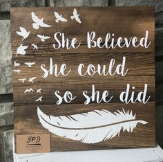 Getting a beautiful handmade wood sign has just gotten easier with our off - Wood Diy Wood Pallet Signs, Diy Wood Signs, Pallet Art, Rustic Signs, Wood Pallets, Wood Stencil Signs, Distressed Wood Signs, Pallet Crafts, Diy Pallet Projects
