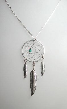 Silver Dream Catcher Necklace  Pick  your by EarthRhythms17