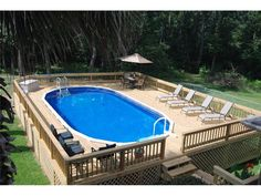 Above Ground Pool with custom decking