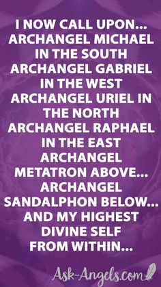 Learn a powerufl Archangel Invocation for calling in archangels around you in each of the four directions, above, below, and tuning into your highest Divine Self within. Archangel Prayers, Metatron Archangel, Archangel Raphael Prayer, Archangel Gabriel Symbol, Raphael Angel, Archangel Sandalphon, Archangel Jophiel, Angel Guide, Angel Quotes