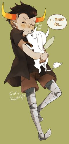 i,,,MISSED YOU,,, by ~waltza on deviantART OMG so cute YES Tavros and lil lusus