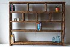 Rustic Bookcase Shelving Unit 100% Reclaimed by LOVEWOODWORK