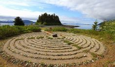 Merciful Love Labyrinth at the Shrine of St. Theresa, Juneau, AK