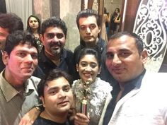 Shivin with yrkkh cast and crew members