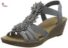 Rieker 62461/43, Sandales compensées femme - Gris, 37 EU (4 UK) (6 US) - Chaussures rieker (*Partner-Link)