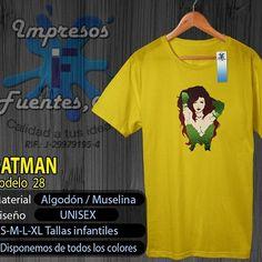 #batman #batmanfans #hiedravenenosa #villano #natural #franelas #personalizadas #calidad #diseños #vendemos