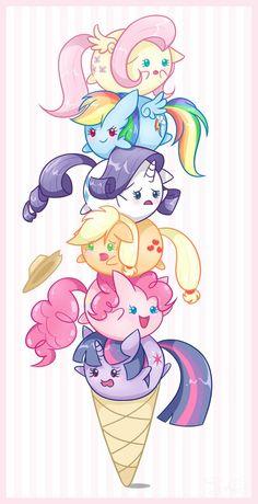 Ice cream of ponies