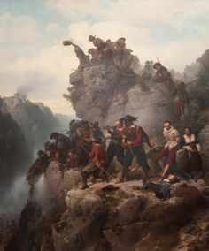 Karl Friedrich Lessing - Riflemen Defending a Pass Picasso Prints, Carl Friedrich, Alfred Stevens, Thirty Years' War, William Adolphe Bouguereau, John Singer Sargent, Museum, Edouard Manet, Romanticism