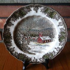 Vintage Johnson Brothers Friendly Village transferware...hey this looks familiar! ...love it