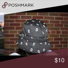 Dope Bucket hat Black one size bucket hat Accessories Hats