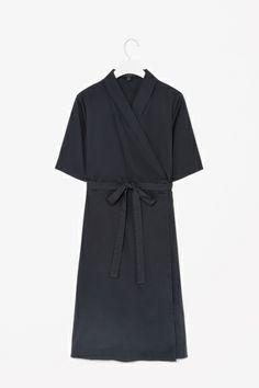 COS Shawl collar wrap dress