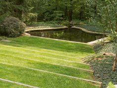 railroad tie lawn terrace - Google Search