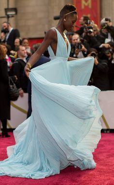 Lupita Nyong'o from Stars' First Oscars  The Twelve Years A Slave actress took home a golden trophy for her stellar performance in 2014.MORE PHOTOS: Movies That Should Have Won Oscars