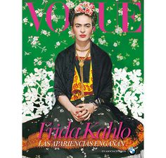 Nearly 60 years after her death, Frida Kahlo appears on the cover of Vogue Mexico's November 2012 issue.