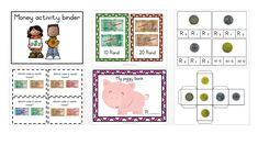 Money activity binder English and Afrikaans in one set. Set consists out of 63 pages which includes the following: Money posters Money clip cards Activities with money Money Activities, Afrikaans, Piggy Bank, Binder, Money Clip, Homeschooling, Posters, English, Cards