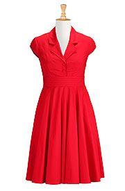 I <3 this Fifties style poplin shirtdress from eShakti