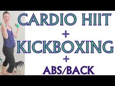 Fat Burning HIIT Cardio Workout - High Intensity Interval Training / Kickboxing/ ABS  * Great weight loss at home full length exercise video