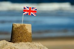 Photo / image of sandcastle on Skegness beach [with UK flag]. Seaside Uk, British Seaside, Peace Love Happiness, Peace And Love, Christmas Wishes, Family Christmas, Union Flags, Living In England, Uk Flag
