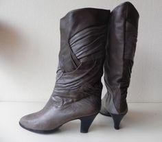 Vintage kalfsleren laarzen (nr. 1382)