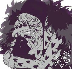 Corazon, Law, young, childhood, sad, crying, text, hugging; One Piece