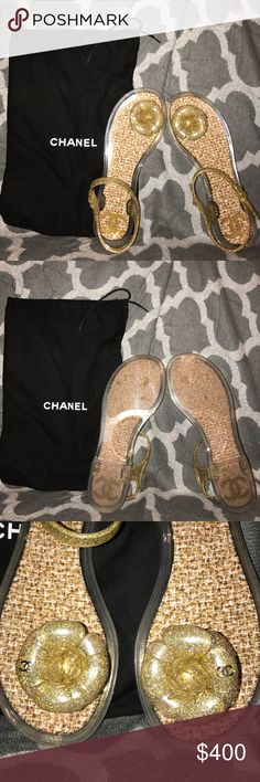 Chanel Jelly Sandals Authentic Chanel Jelly Sandals. Used, but in excellent condition. I absolutely love these sandals!  SIZE 38 CHANEL Shoes Sandals
