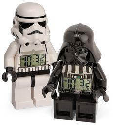 LEGO Minifig Alarm Clocks.