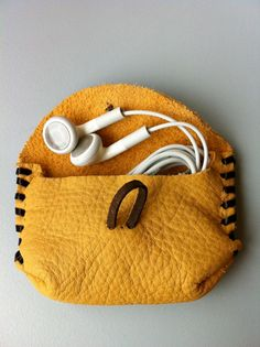 Cute leather pouch.