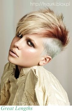 New Undercut Hairstyles Woman 2015 Girls Shaved Hairstyles, Shaved Hair Women, Short Hairstyles 2015, Undercut Hairstyles Women, Cool Hairstyles, Short Haircuts, Hairstyle Ideas, Funky Haircuts, Short Undercut