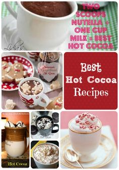Hot Cocoa Recipes YUM!!!  I love hot cocoa this time of year!