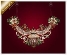 Fensterbild Weihnachtslaterne an Girlande mit zwei Vögelchen Plauener Spitze ® | Möbel & Wohnen, Dekoration, Sonstige | eBay!