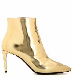 Metallic leather ankle boots | Balenciaga