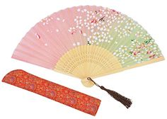 Amajiji Chinese Style Butterfly Flowers Pattern Lace Bamboo Handheld Folding Fans for Girls Women (2) | Decorative Folding Fans | Olivia Decor - decor for your home and office.