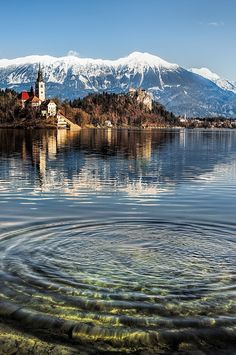 afternoon shot of Lake Bled,Slovenia