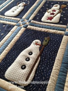 Winter Blessings close up at The Quilted Pineapple. Design by Lisa Bongean at Primitive Gatherings