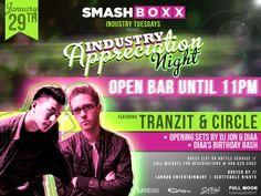 SMASHBOXX Ultra Club – TUESDAY Industry Affair – 01.29.2013