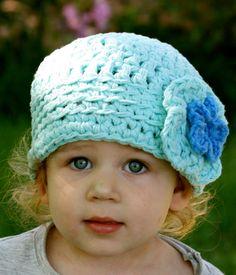 Toddler Girl Hat in Seaside Blue. $25.00, via Etsy.