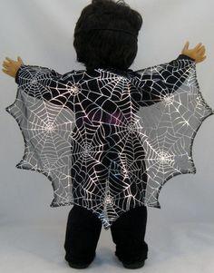 American Girl Doll sized Bat Girl Halloween by enchanteddesigner