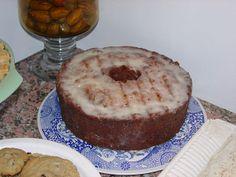 BEST CAKE you will ever eat. So moist. Paula Deen's Grand Girl's Fresh Apple Cake from Georgia. I promise. Recipe below.